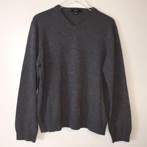 J. Crew 100% Cashmere Gray Sweater Large